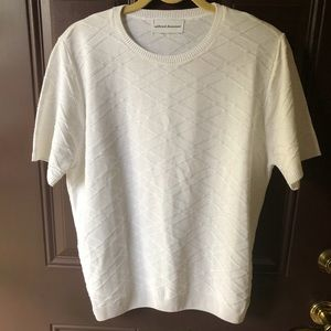 Alfred Dunner white crisscross summer sweater